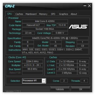 Asus CPU-Z