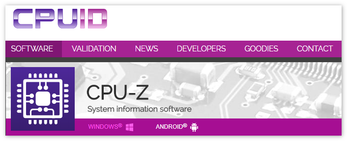 CPU-Z программа