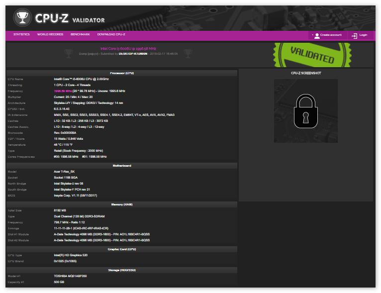 CPU-Z тестирование