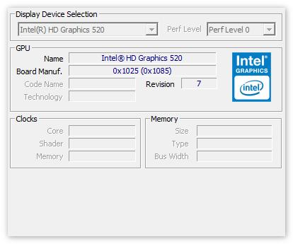 Данные о видео-карте в CPU-Z