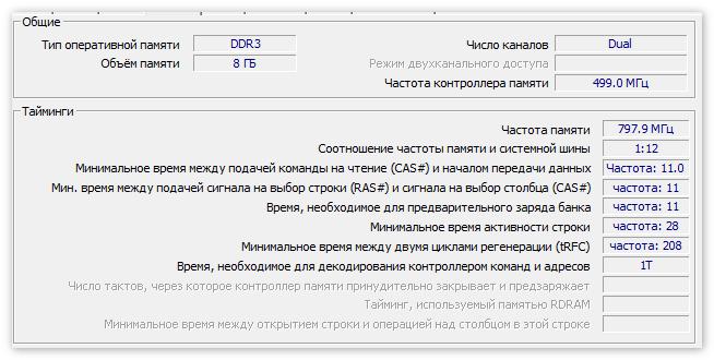 Данные Памяти в ЦПУ-З