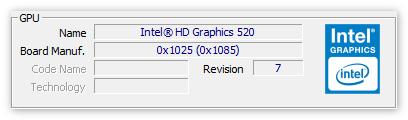 Характеристики видеокарты в ЦПУ-З