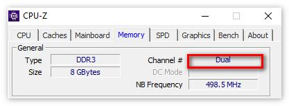 Информация о числе каналов в ЦПУ-З