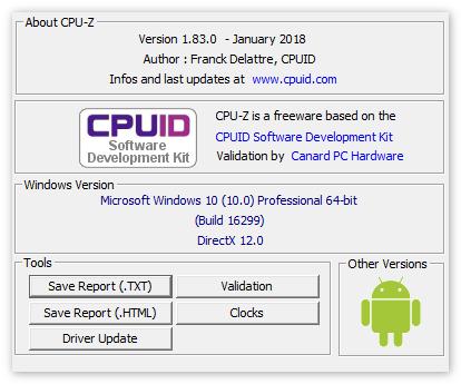 О программе CPU-Z