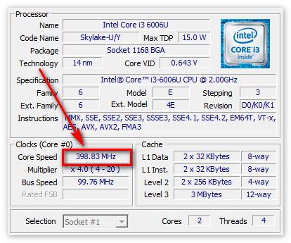 Тактовая частота процессора в ЦПУ-З