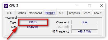 Тип оперативной памяти в ЦПУ-З